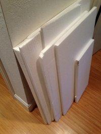 biały styropian budowlany